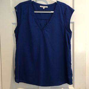 Daniel Rainn Royal Blue Cap Sleeve Top Size Large